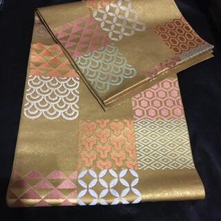 川島織物 20万円 西陣織 袋帯 パステル本金箔(着物)