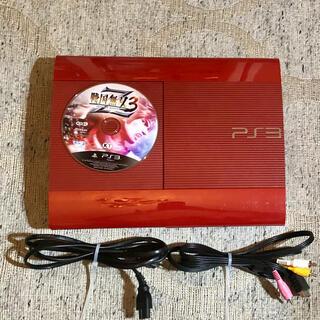 プレイステーション3(PlayStation3)の PlayStation3 ガーネット・レッド 本体 戦国無双3ソフト(家庭用ゲーム機本体)