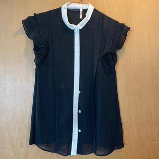 マルティニークルコント(martinique Le Conte)のシースルー フリル半袖シャツ(シャツ/ブラウス(半袖/袖なし))