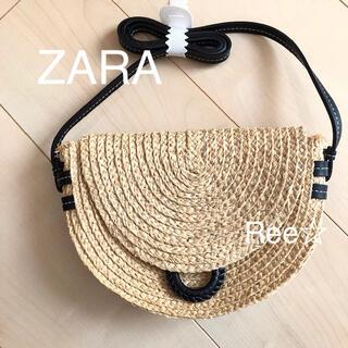 ザラ(ZARA)のZARA ラフィアバッグ  カゴバッグ ザラ ショルダーバッグ(かごバッグ/ストローバッグ)