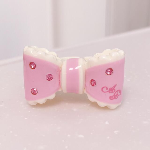Angelic Pretty(アンジェリックプリティー)のAngelic Pretty ドリームリボンリング ピンク jsk ネックレス レディースのアクセサリー(リング(指輪))の商品写真