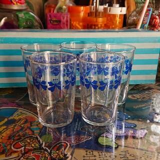 トウヨウササキガラス(東洋佐々木ガラス)の昭和レトロ グラス 5個セット 箱付き(グラス/カップ)