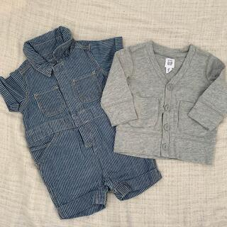 ベビーギャップ(babyGAP)のbaby GAP カーデ&ショートオール 60cm(カーディガン/ボレロ)