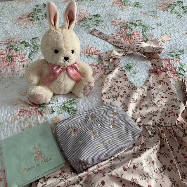 Maison de FLEUR(メゾンドフルール)の☆メゾンドフルール・イースターうさぎ・レアエプロン☆ エンタメ/ホビーのおもちゃ/ぬいぐるみ(ぬいぐるみ)の商品写真