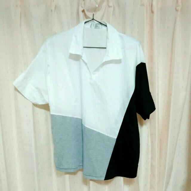 しまむら(シマムラ)のシャツ/グレー/ブラック/ホワイト レディースのトップス(シャツ/ブラウス(半袖/袖なし))の商品写真