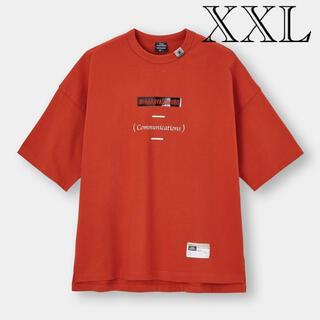 ミハラヤスヒロ(MIHARAYASUHIRO)の新品未使用 GU ミハラヤスヒロ ビッグT(5分袖)MY オレンジ XXL(Tシャツ/カットソー(半袖/袖なし))