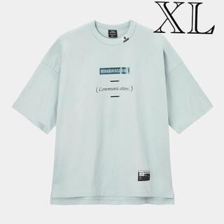 ミハラヤスヒロ(MIHARAYASUHIRO)の新品未使用 GU ミハラヤスヒロ ビッグT(5分袖)MY ブルー XL(Tシャツ/カットソー(半袖/袖なし))