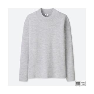 ユニクロ(UNIQLO)のユニクロユー美品  UNIQLOU ミラノリブモックネックセーター(ニット/セーター)
