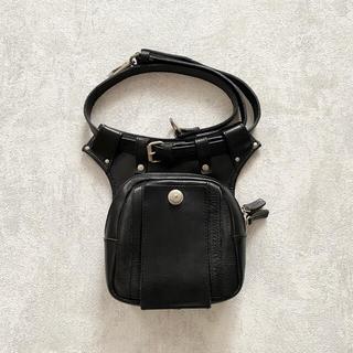 JOHN LAWRENCE SULLIVAN - Leather bag vintage 90s レザーバッグ ヴィンテージ 古着