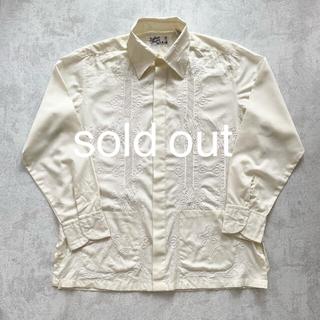 アンユーズド(UNUSED)のembroidery shirt vintage 70s 古着 刺繍シャツ(シャツ)