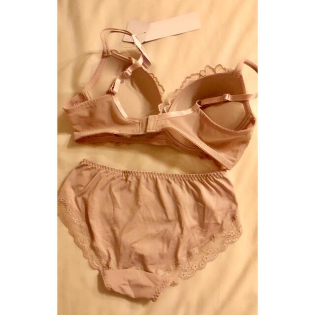 しまむら(シマムラ)のしまむら ブラ ショーツ セット ピンク レディースの下着/アンダーウェア(ブラ&ショーツセット)の商品写真