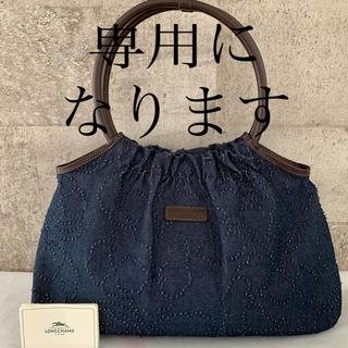 LONGCHAMP - ご予約商品になります。◆ ロンシャン デニム×レザー  ハンドバッグ◆