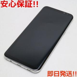 ギャラクシー(Galaxy)の美品 au SCV35 Galaxy S8+ シルバー 白ロム(スマートフォン本体)
