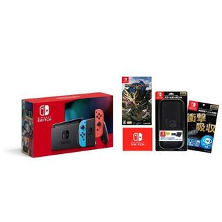 ニンテンドースイッチ(Nintendo Switch)のNintendo Switch ネオン+モンスターハンターライズ等セット(家庭用ゲーム機本体)