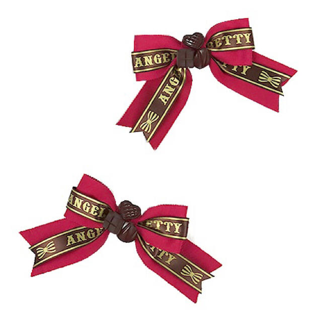 Angelic Pretty(アンジェリックプリティー)のChocolat DollクリップSet レディースのヘアアクセサリー(バレッタ/ヘアクリップ)の商品写真