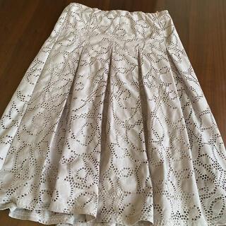 ミツコシ(三越)の透け感 フレアースカート(ひざ丈スカート)