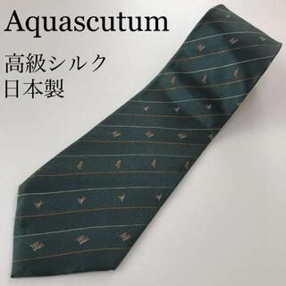 アクアスキュータム(AQUA SCUTUM)のアクアスキュータム 日本製 高級シルク ネクタイ 小紋 ペンシルストライプ(ネクタイ)