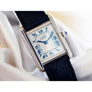 Cartier - 美品 カルティエ マスト タンク シルバー ブルーインデックス SM