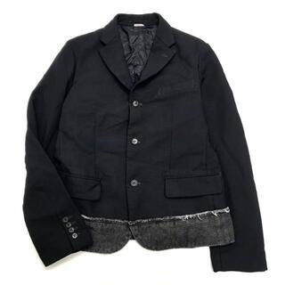 コムデギャルソンオムプリュス(COMME des GARCONS HOMME PLUS)の美品 18AW コムデギャルソン オムドゥ エステル 切替 ジャケット M(テーラードジャケット)