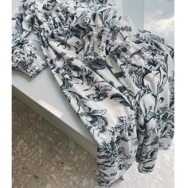eimy istoire(エイミーイストワール)のcamila flower ティアードワンピース レディースのワンピース(ロングワンピース/マキシワンピース)の商品写真