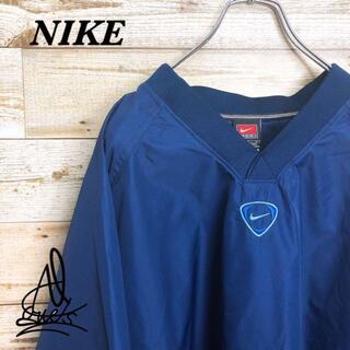 NIKE - 《チームロゴ》NIKE ナイキ プルオーバー ナイロン♤ ブルー 青 XL