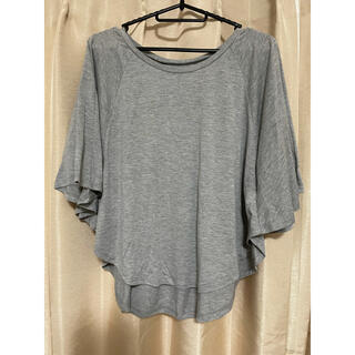 アズールバイマウジー(AZUL by moussy)のAZUL  Tシャツ カットソー トップス S 未使用 グレー(カットソー(半袖/袖なし))