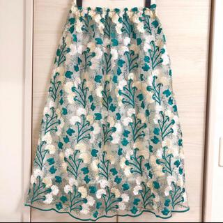 ROSE BUD - 花柄シースルースカート