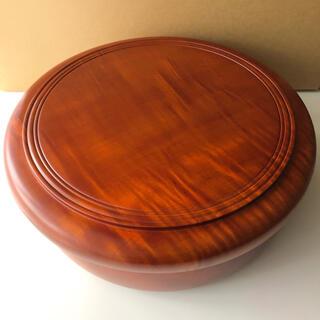 茶櫃 茶びつ 茶器入れ 盆* けやき 欅  国産欅 くり抜き