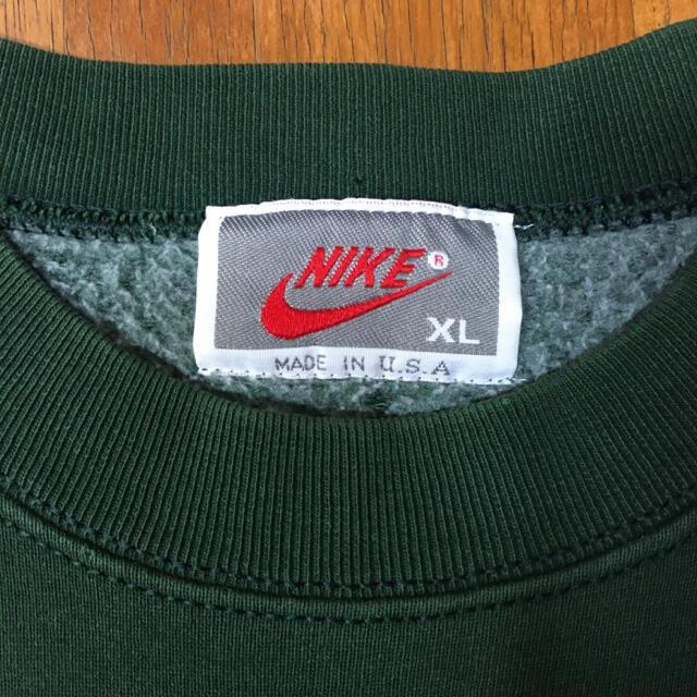 NIKE(ナイキ)の90s 銀タグ USA製 ナイキ スウェット ビッグシルエット 刺繍ロゴ XL メンズのトップス(スウェット)の商品写真