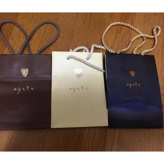 アガット(agete)のアガット  紙袋3種(ラッピング/包装)