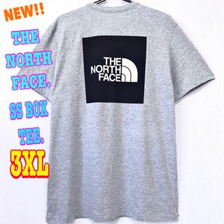 ザノースフェイス(THE NORTH FACE)の清涼感 ♪ ノースフェイス BOXロゴ Tシャツ ライトグレー  3XL 4L(Tシャツ/カットソー(半袖/袖なし))
