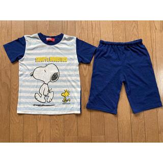 SNOOPY - 子ども スヌーピー 紺色 パジャマ 130㎝