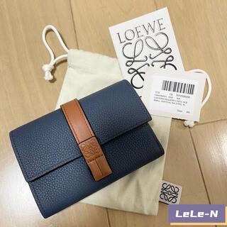 ロエベ(LOEWE)のLOEWE<新品レシート付き>スモールバーティカル財布 STEEL BLUE(財布)