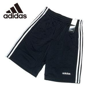 adidas - 新品 Mサイズ アディダス ハーフパンツ ショート スリーライン ブラック