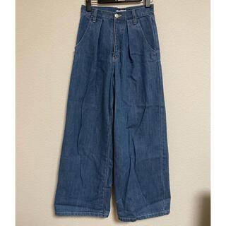 EVRIS☆一度のみの使用 デニム アイスブルー ワイドパンツ Sサイズ