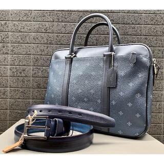 COACH - 新品 COACH コーチ ビジネスバッグ ペリー スリムNINI9+本革紺ベルト