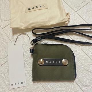 マルニ(Marni)のMARNI マルニ レザー ロゴ テクニカル キャンパス ウォレット(コインケース/小銭入れ)