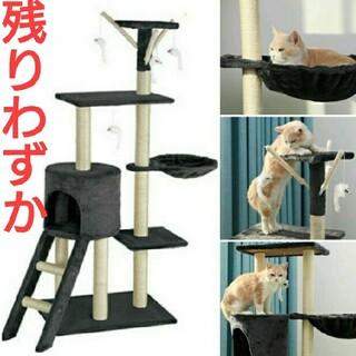 新品 猫用 遊び場 据え置き型 爪研ぎ ハンモック ねこじゃらし キャットタワー(猫)