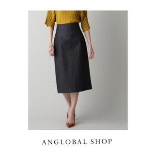 アングローバルショップ(ANGLOBAL SHOP)のアングローバルショップ デニム ロングタイトスカート 17600円(ロングスカート)