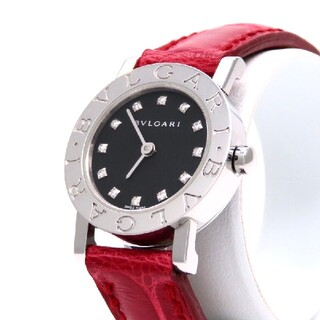 BVLGARI - 【BVLGARI】ブルガリ 時計 '12Pダイヤモンド' ロゴ有り ☆極美品☆