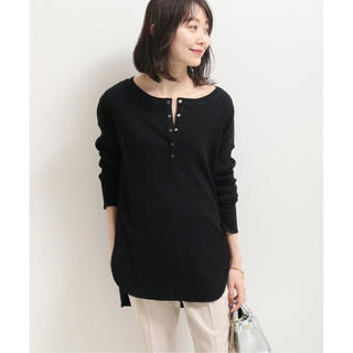 Noble - NOBLE リングドットヘンリーネックTシャツ ブラック