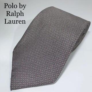 POLO RALPH LAUREN - 美品 ポロバイラルフローレン アメリカ製 高級シルク ネクタイ 総柄