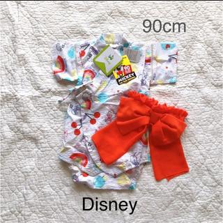 ディズニー(Disney)の新品●Disney…浴衣ロンパース(90cm)●(甚平/浴衣)