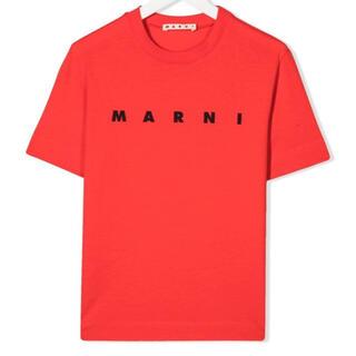 マルニ(Marni)の【新作】MARNI ロゴTシャツ レッド 12(Tシャツ(半袖/袖なし))