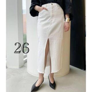 アパルトモンドゥーズィエムクラス(L'Appartement DEUXIEME CLASSE)のアパルトモン【3×1/スリーバイワン】Denim Skirt 26(ロングスカート)