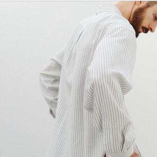 VISCOSE STRIPE SHIRT  LIDNM リドム(シャツ)
