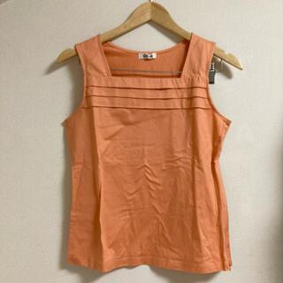アルファキュービック(ALPHA CUBIC)のA/C DESIGN BY ALPHA CUBIC オレンジ タンクトップ(カットソー(半袖/袖なし))
