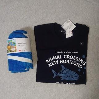 ユニクロ(UNIQLO)のどうぶつの森タオル・Tシャツ(タオル/バス用品)