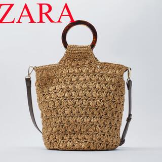 ZARA - 新品 ザラ 2way ショルダー カゴバッグ