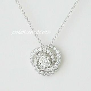 PonteVecchio - 極美品【ポンテヴェキオ】PT999 ダイヤモンド ローズ ネックレス